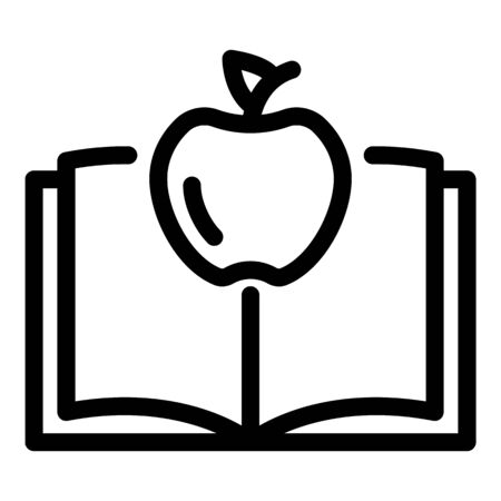 Apple book gravity icon. Outline apple book gravity vector icon for web design isolated on white background