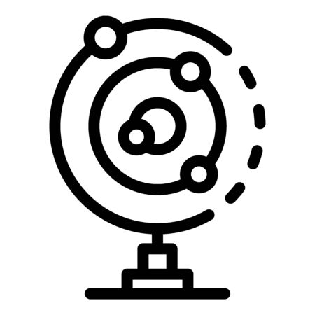 Solar system gravity icon, outline style