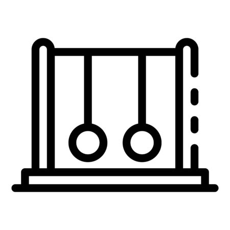 Pendulum stand icon, outline style