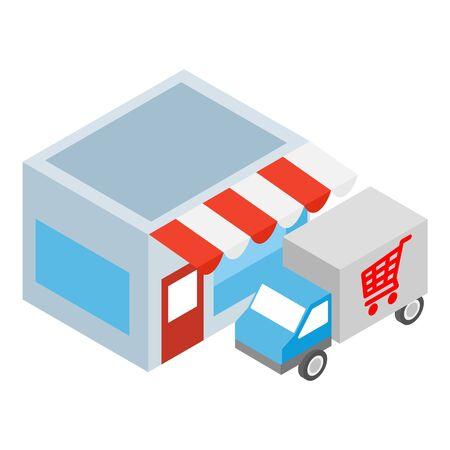 Delivery service icon. Isometric illustration of delivery service vector icon for web Vektorgrafik