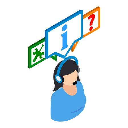Online consultation icon. Isometric illustration of online consultation vector icon for web
