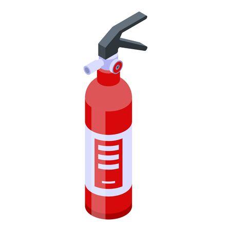 Foam fire extinguisher icon. Isometric of foam fire extinguisher vector icon for web design isolated on white background
