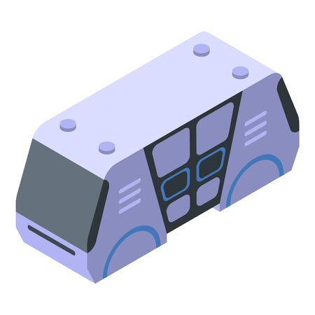 Unmanned bus icon, isometric style Imagens - 144043818