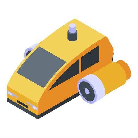 Futuristic car icon, isometric style Imagens - 144043673