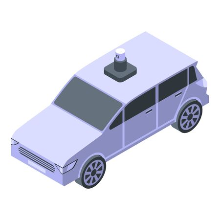 Car taxi icon, isometric style