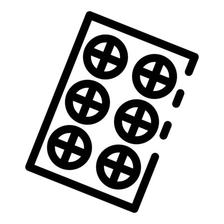 Refill pill package icon, outline style  イラスト・ベクター素材