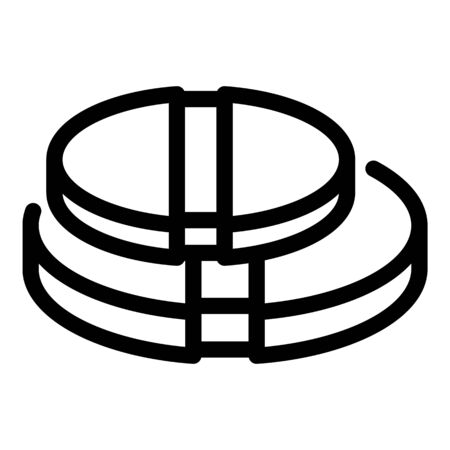 Sickness pill icon, outline style