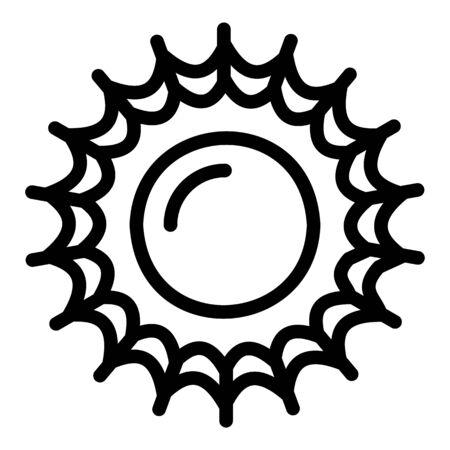 Beach sun icon, outline style