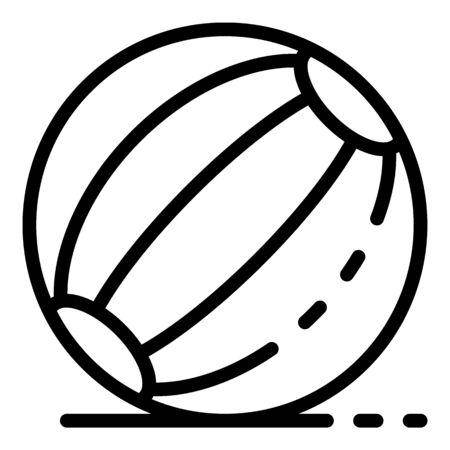 Beach ball icon, outline style