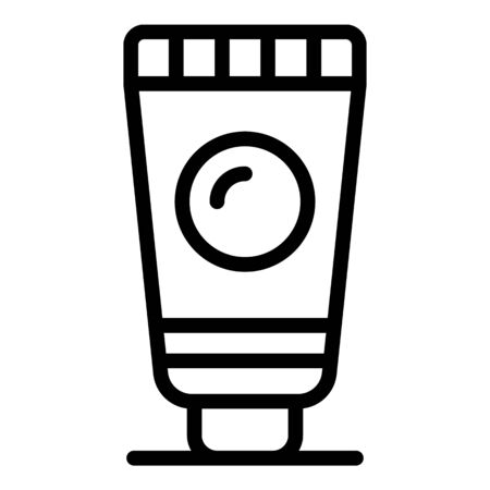 Tube sunscreen icon, outline style