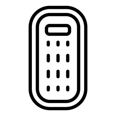 Inflatable mattress icon, outline style