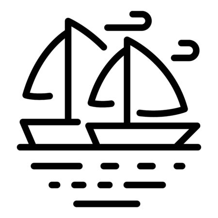 Sea yacht icon, outline style