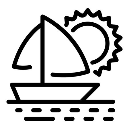 Luxury ocean yacht icon, outline style