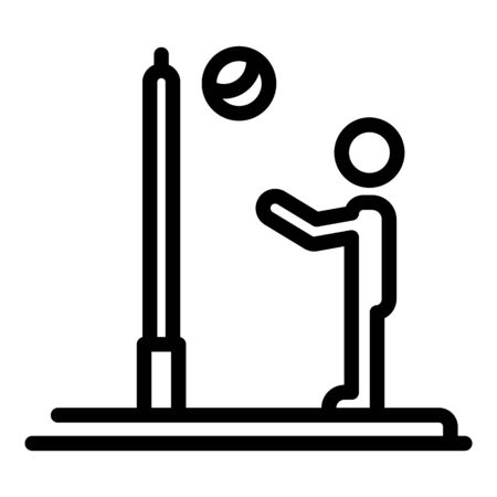 Beach volleyball icon, outline style