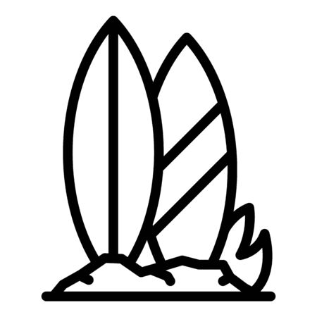 Surfing boards icon, outline style Vecteurs