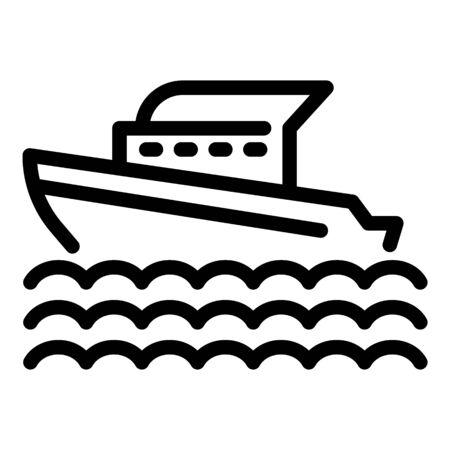 Marine cruise ship icon, outline style Standard-Bild - 144166945