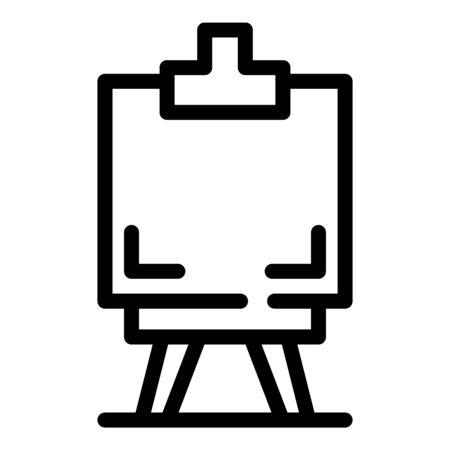 Easel icon, outline style