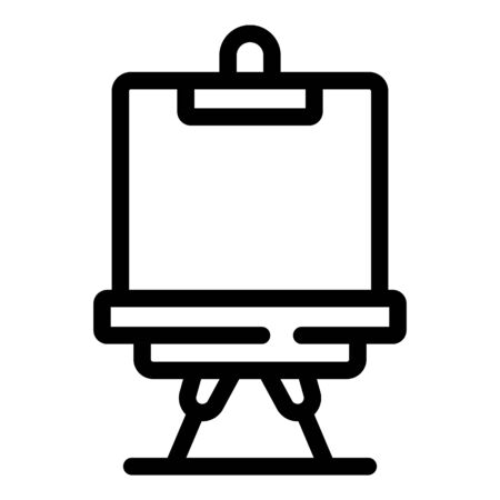 Equipment easel icon, outline style  イラスト・ベクター素材