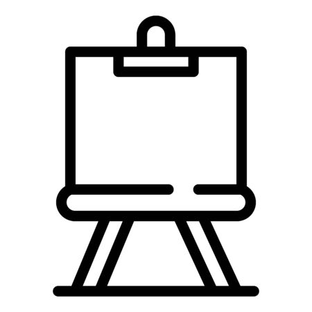 Education easel icon, outline style