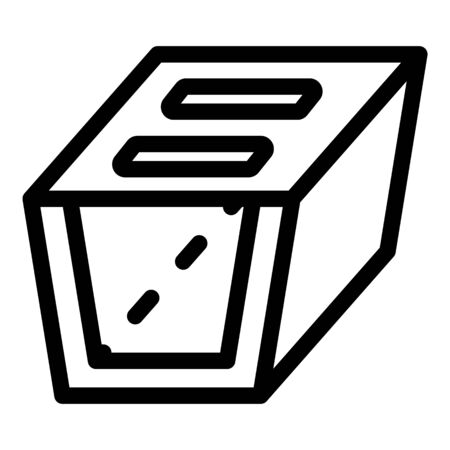 Spout gutter icon, outline style