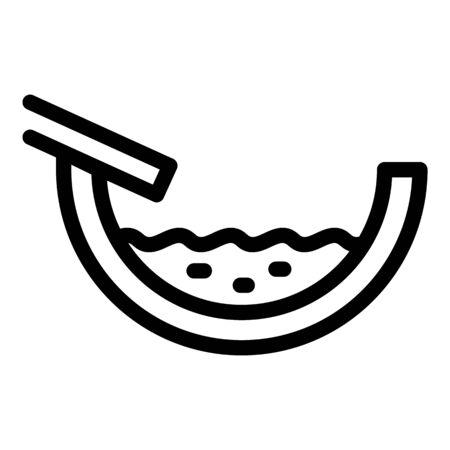 Full roof gutter icon. Outline full roof gutter vector icon for web design isolated on white background Vektoros illusztráció