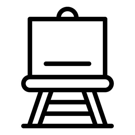 Artist easel icon, outline style