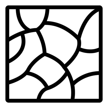 Stone paving icon, outline style