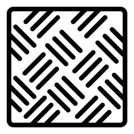 Asphalt paving icon, outline style