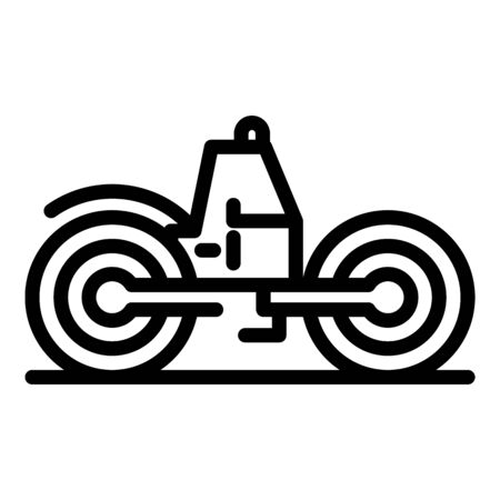 Heavy road roller icon. Outline heavy road roller vector icon for web design isolated on white background Illustration