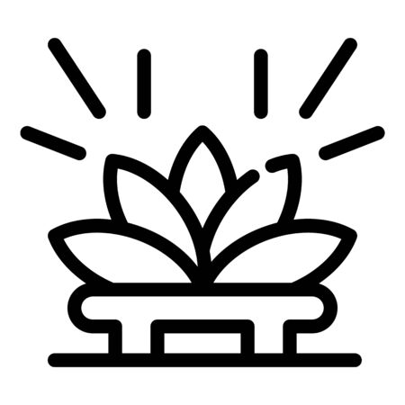 Lotus tea ceremony icon. Outline lotus tea ceremony vector icon for web design isolated on white background