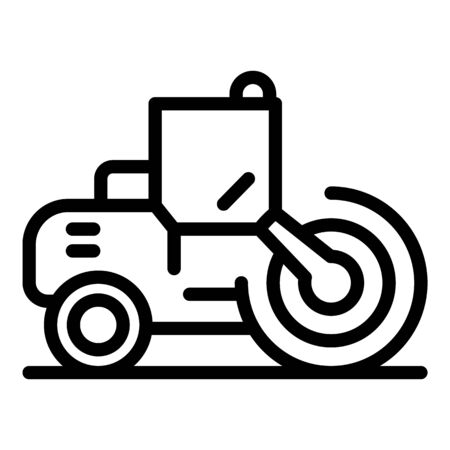 Business road roller icon. Outline business road roller vector icon for web design isolated on white background