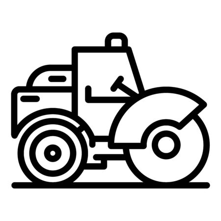 Transportation road roller icon. Outline transportation road roller vector icon for web design isolated on white background