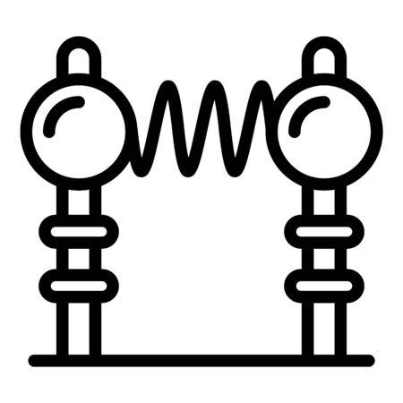 Tesla electrodes icon, outline style