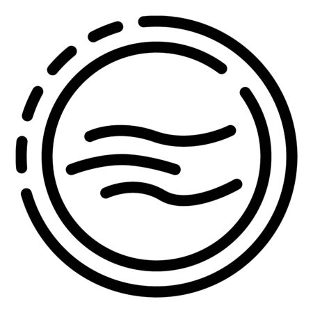 Body bending in a circle icon, outline style
