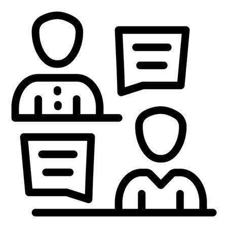 Reception crew icon, outline style