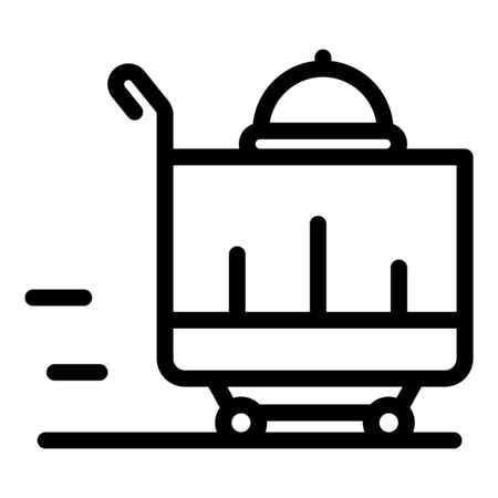 Food delivery icon, outline style