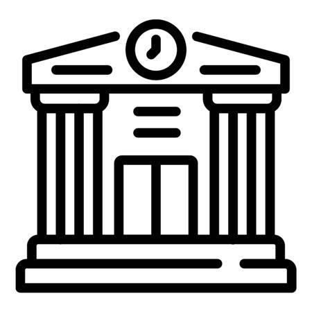 Theatre scene icon, outline style