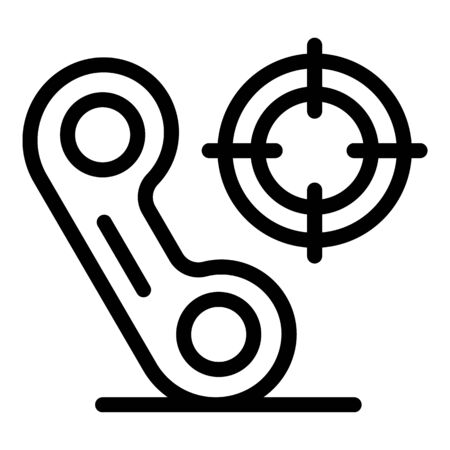 Targeted calls icon, outline style