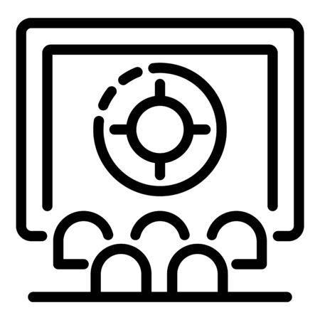 Cinema audience icon, outline style