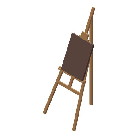 Wood easel icon. Isometric of wood easel vector icon for web design isolated on white background
