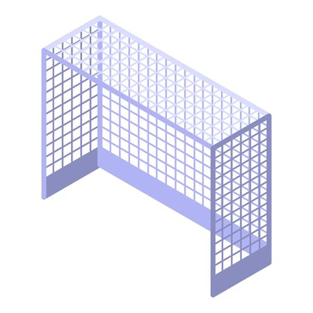 Field hockey gate icon, isometric style