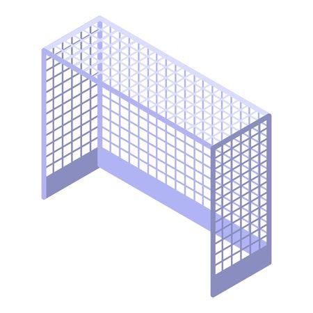 Field hockey gate icon, isometric style