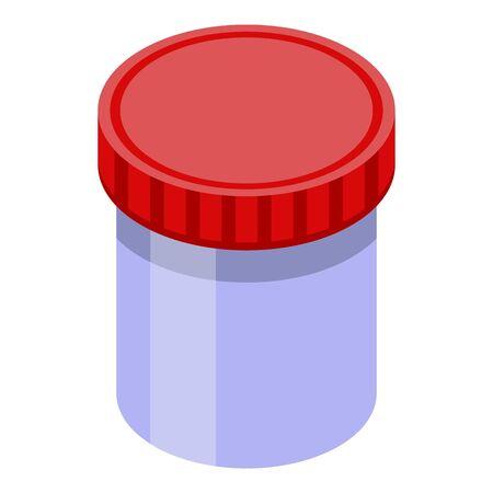 Mite jar box icon, isometric style
