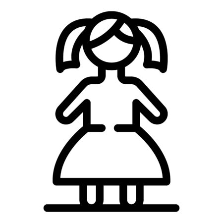 Doll icon, outline style