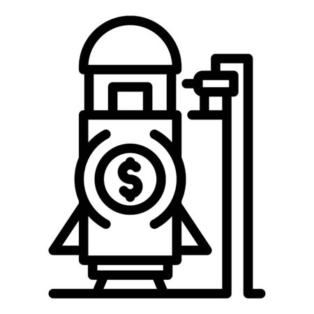 Trade war rocket icon, outline style