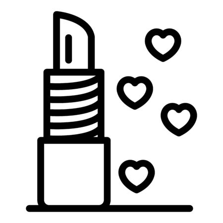 French lipstick icon, outline style
