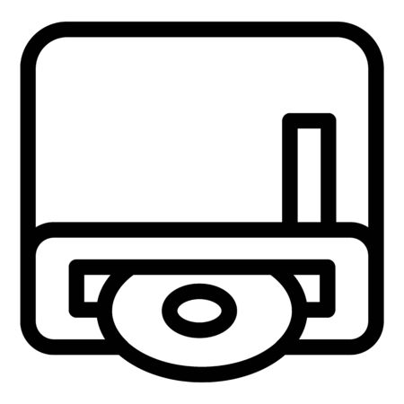 Portable disk writer icon, outline style Vektorové ilustrace