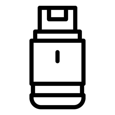 Usb flash icon, outline style
