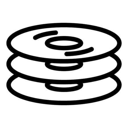 Cd stack icon, outline style
