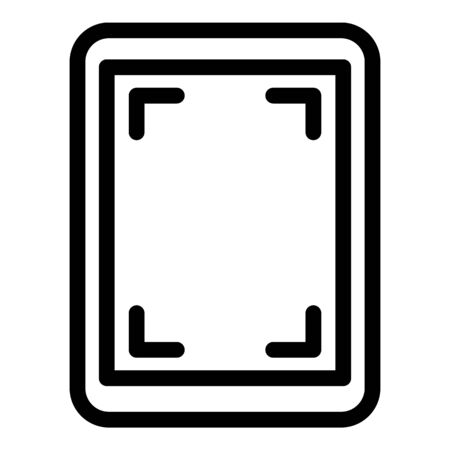 Screen record tablet icon, outline style